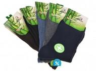 Pánské klasické zdravotní bambusové ponožky AMZF A-9012 - 5 párů, velikost 44-47