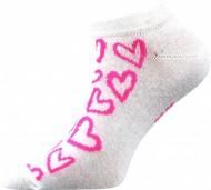 Ponožky Srdíčka, růžové - 1 pár, velikost 39-42