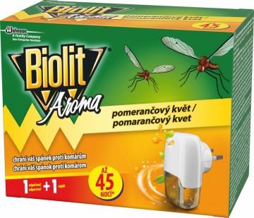 Biolit Aroma - elektrický odpařovač, 45 nocí s vůní pomerančového květu, 27ml