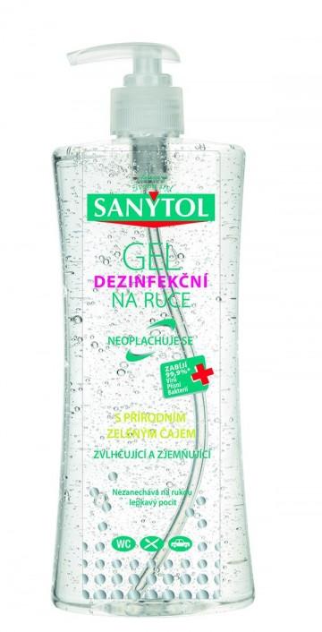Sanytol - dezinfekční gel na ruce s pumpičkou, 500ml