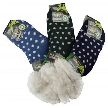 Bambusové protiskluzové extra termo ponožky Pesail MC301, 1 pár, velikost 28-31