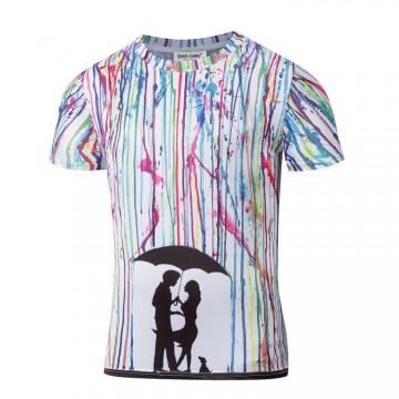Pánské tričko s barevným vzorem, velikost S