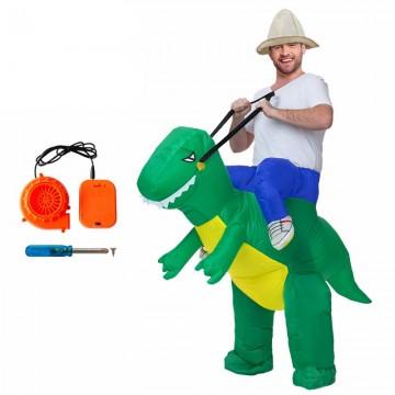 Karnevalový nafukovací kostým dinosaurus pro dospělé