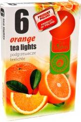 Čajové svíčky 6 kusů –  Pomeranč