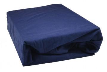 Prostěradlo jersey 90x200 cm - inkoustová modř