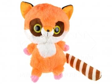 Plyšák velké oči - oranžový 40 cm
