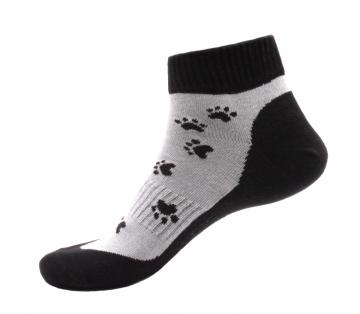 Ponožky - Tlapka černá nízké - velikost 43-47