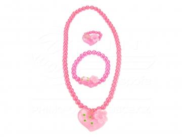 Lány szett 3in1 szív rózsaszín