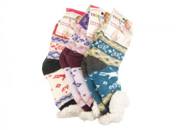 Protiskluzové extra termo ponožky WC203, 1 pár, velikost 22-26