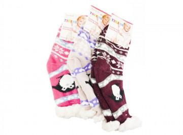 Protiskluzové extra termo ponožky WC204, 1 pár, velikost 32-35