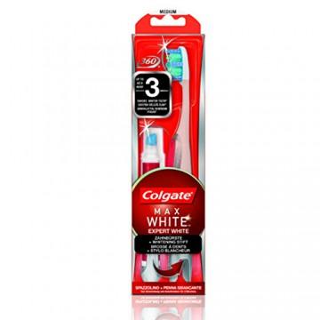 Colgate Max White Expert White - zubní kartáček a bělící pero