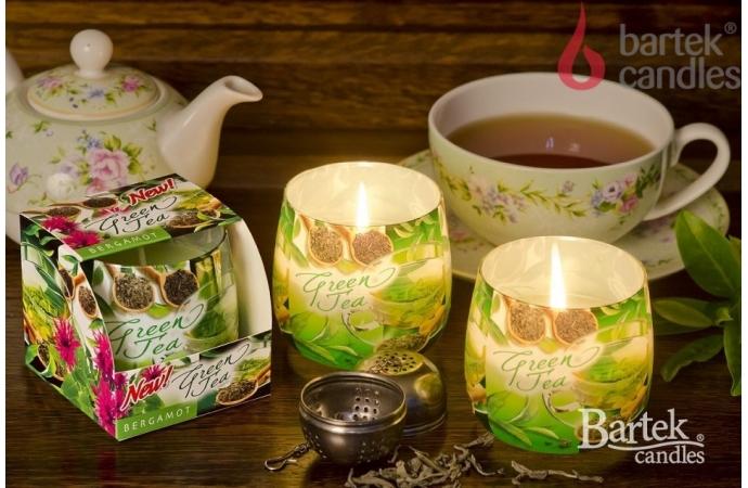 Vonná svíčka ve skle - zelený čaj s bergamotem, 100g