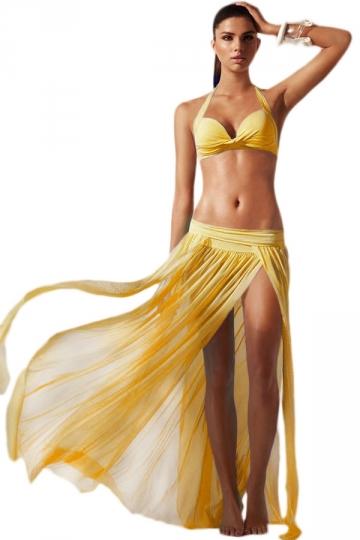 Plážová sukně - žlutá