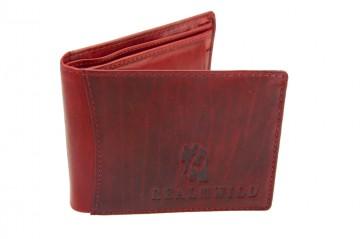 Pánská kožená peněženka Real Wild - červená [976]