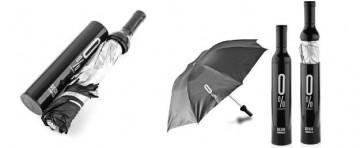Elegantní deštník v láhvi - černý