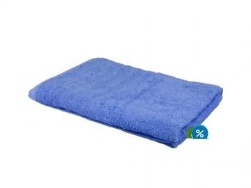 Prosop de corp plușat, 70x140 cm - albastru