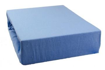 Prostěradlo jersey 90x200 cm - světle modré