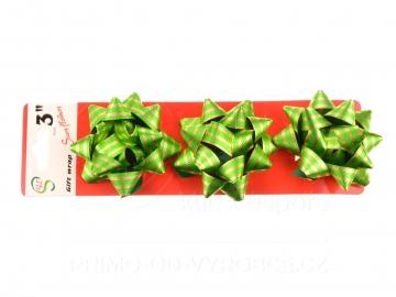 Mašle 7.5cm 3ks v balení - Zelené