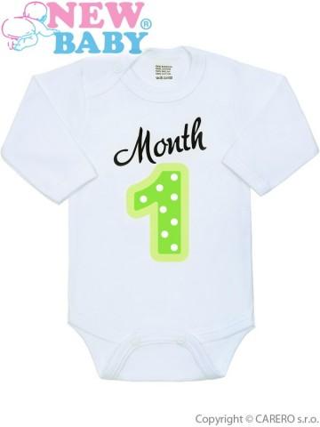 Body s potlačou New Baby Month 1