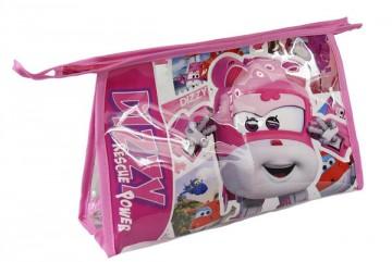 Kosmetická taška vybavená Super Wings růžová
