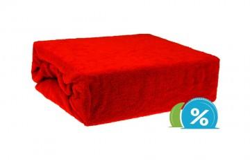 Cearșaf plușat pentru copii 60x120 cm - roșu