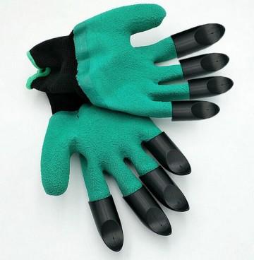 Praktické rukavice pro práci na zahrádce s plastovými drápy pro praváky i leváky