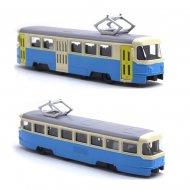 Kovová tramvaj Tatra T3, 18,5 cm - modro-krémová