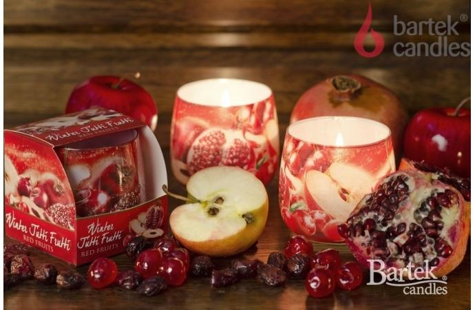 Vonná svíčka ve skle - vůně červeného ovoce, 100g