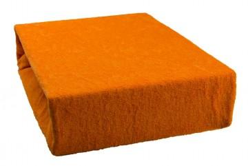 Prostěradlo froté 90x200 cm - oranžové