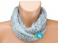 Tunelový šátek s kamínky, leopard - bílý