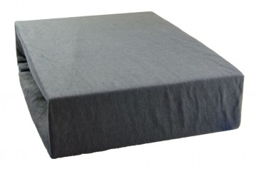 Jersey lepedő 160x200 cm - sötétszürke