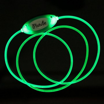 Zgardă LED pentru câine cu mărime reglabilă  - verde