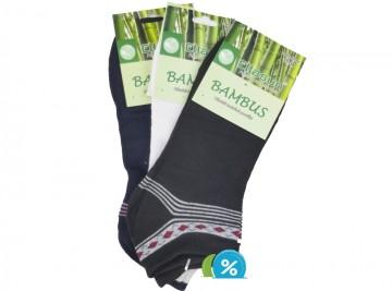Dámské kotníkové bambusové ponožky Ellasun LOW338 - 3 páry, velikost 35-38