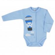 Kojenecké body celorozepínací Bobas Fashion Mini Baby modré