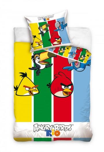 Povlečení Angry Birds pruhy 140/200