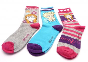 Ponožky - Frozen - QE4706-1 - velikost 23-26 cena za 3 páry