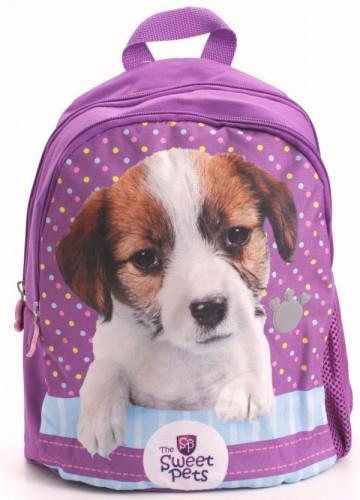 Dětský batůžek Sweet Pets fialový s pejskem