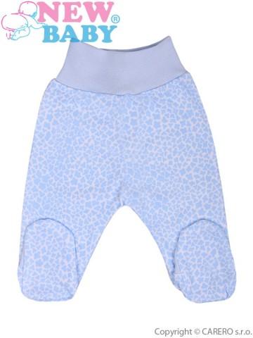 Dojčenské polodupačky New Baby Giraffe modré