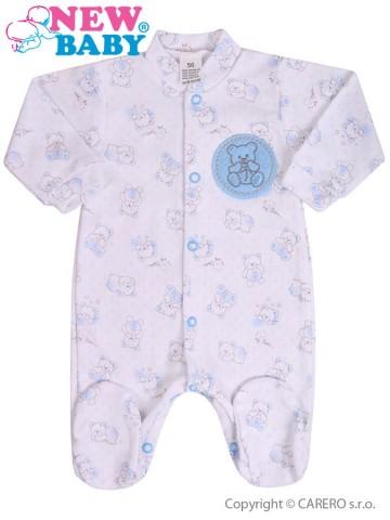 Dojčenský overal New Baby Roztomilý Medvedík modrý