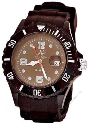 Silikonové hodinky Kronen & Söhne - černé