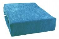 Prostěradlo froté 160x200 cm - modrá capri