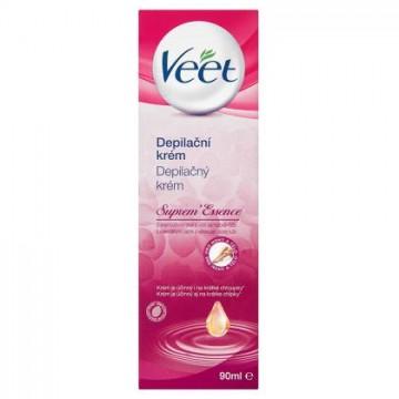 Veet® Suprem' Essence depilační krém s esenciálními oleji a vůní sametové růže, 90ml
