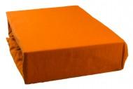 Prostěradlo jersey 140x200 cm - tmavě oranžové