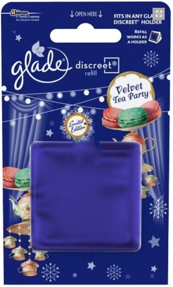 Glade Discreet náplň Velvet Tea Party 8 g
