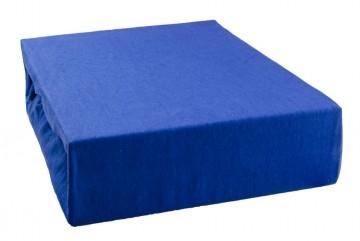 Prostěradlo jersey 220x200 cm - modré