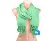 Jednobarevná šála - zelená
