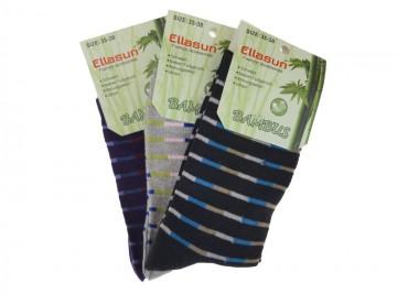 Klasszikus női bambusz zokni Ellasun ZW1303 - 3 pár, méret 39-42