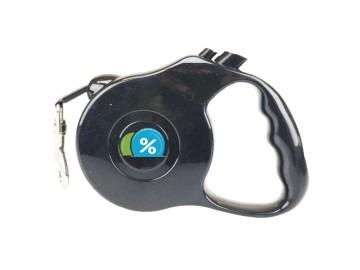 Vodítko pro pejska - 5m, černé