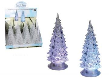 Akrylový vánoční stromek s LED světlem