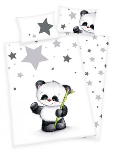 FLANEL Povlečení do postýky Panda 100/135, 40/60